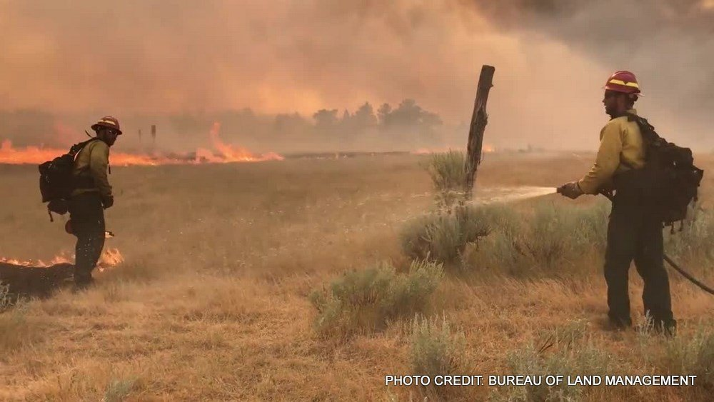 The Lodgepole Complex fires burning in eastern Montana