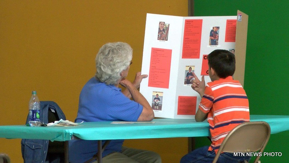 4-H members showed off Educational Displays to judges on Tuesday morning at the fairgrounds.