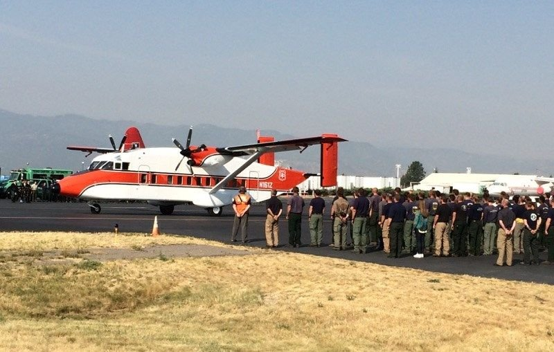 A procession for Vista Grande Hotshot Brent Witham was held on Monday at 9 a.m. in Missoula.