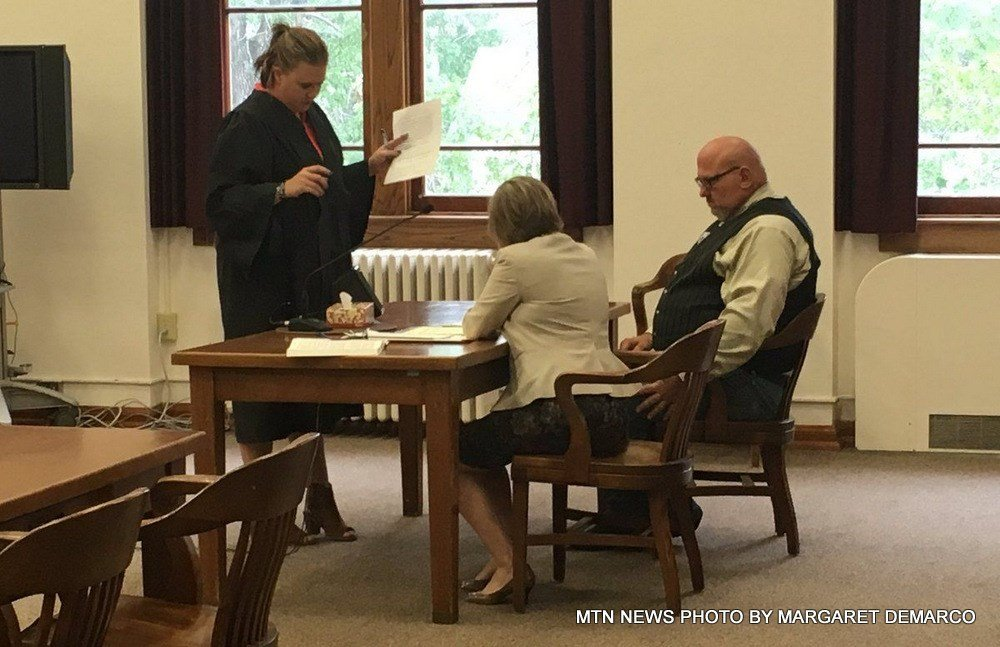 Pondera County Sheriff Carl Suta pleaded not guilty on Tuesday to a charge of misdemeanor assault.