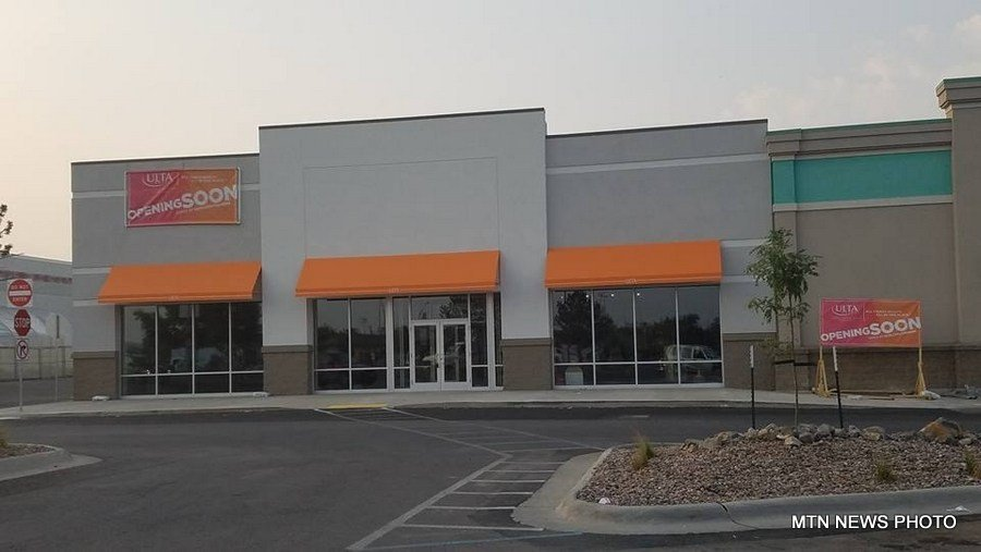 Construction continues on an Ulta Beauty store in Great Falls, and an Ulta sign is now in place.