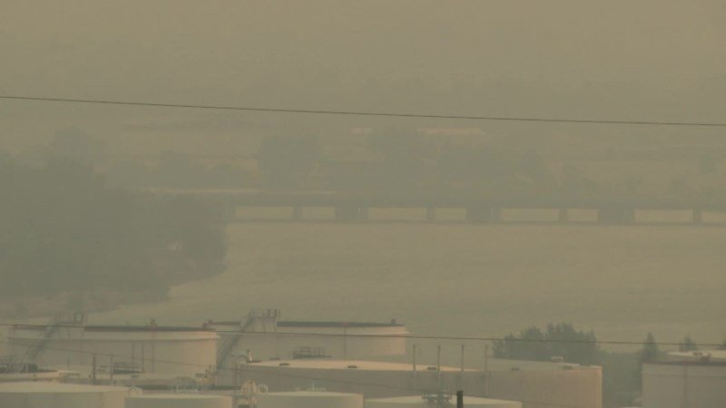 Air quality in Great Falls on Friday evening (August 18)