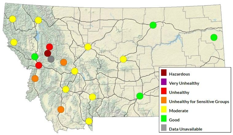 DEQ Air Quality for Sunday, August 20