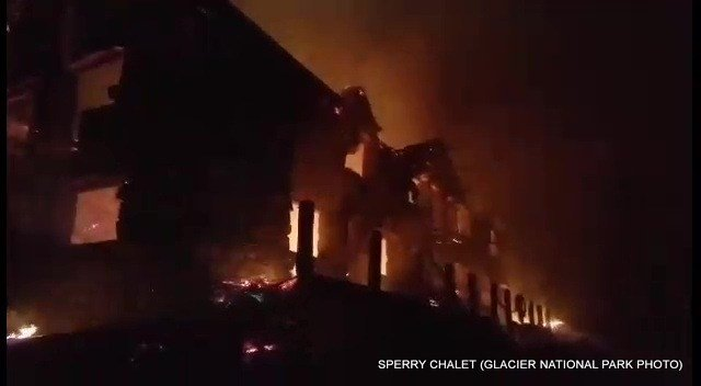 On Thursday at about 6:00 pm, the main building at Sperry Chalet was lost to the Sprague Fire.