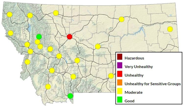 DEQ air quality map on Monday September 11