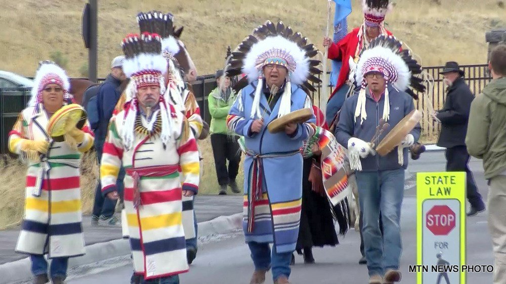 Tribal members rallied on Saturday in Gardiner to call for the name change of Mount Doane and Hayden Valley.