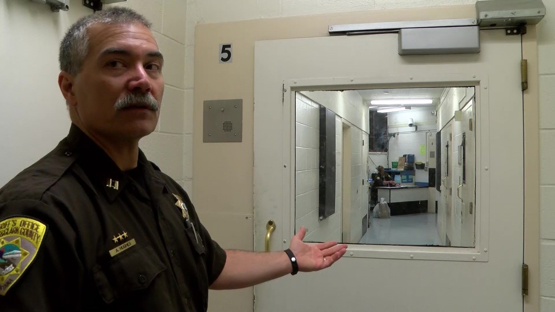 Advocates of levy get a tour of the jail in Helena