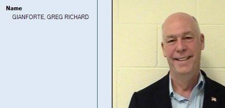 U.S. Representative Greg Gianforte's booking photo