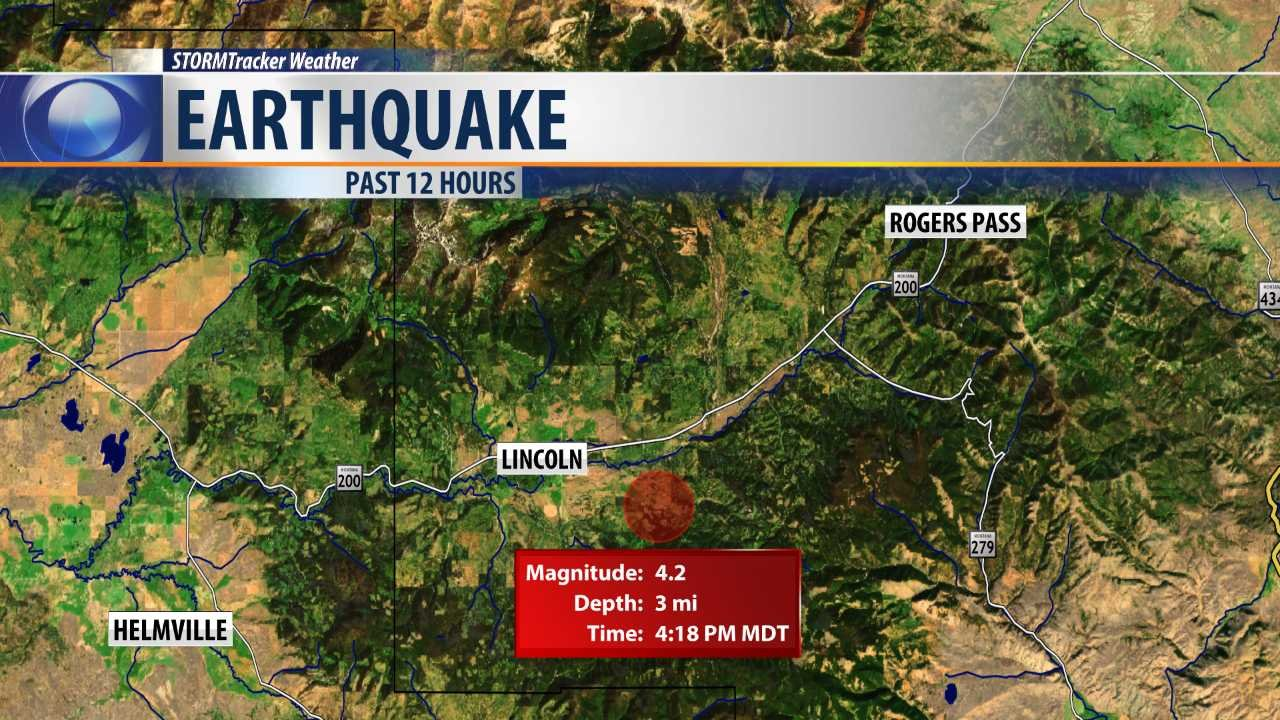 M4.2 earthquake was reported near Lincoln on Thursday