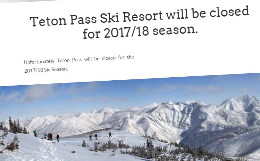 Teton Pass Ski Area website