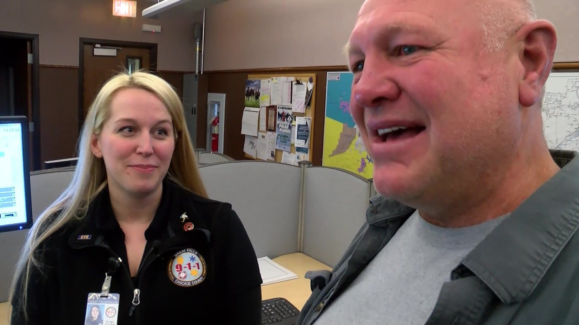 Family meets Great Falls dispatcher after live-saving call