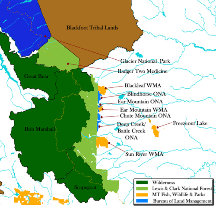 Map from GlacierTwoMedicine.org