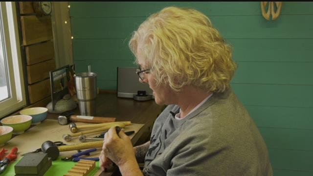 """I recycle everything,"" said Cynthia Wadeley, the artist behind Cynthia Out West Silversmith."