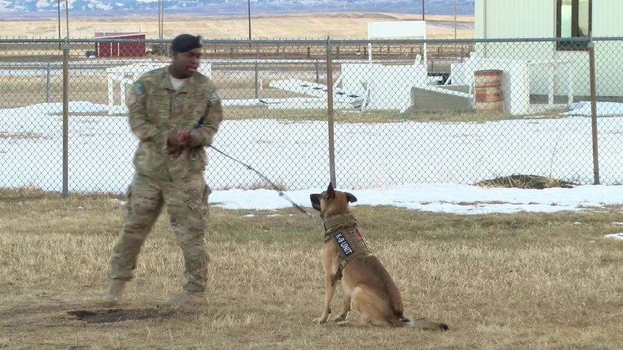 Kay is the third K-9 that Senior Airman Benjamin Huntley has worked with during his career as a handler.