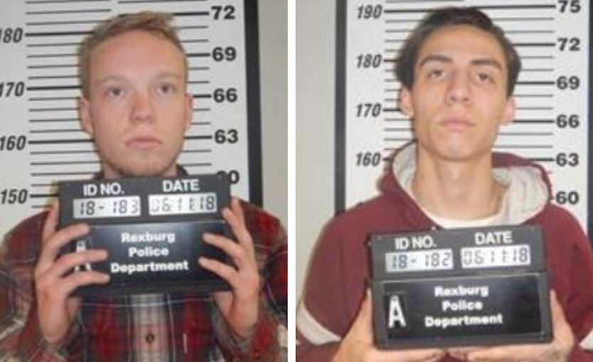 Chad Jackson and Hunter Cruz  (Photos from Rexburg Police Department)