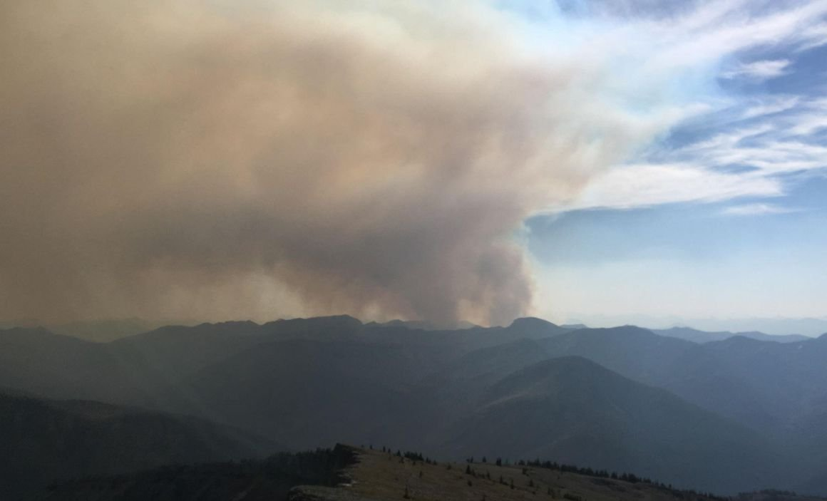 The Brownstone Fire in the Bob Marshall Wilderness has now burned an estimated 1,086 acres. (PHOTO FROM INCIWEB)