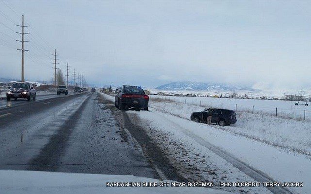 KARDASHIANS SLIDE-OFF NEAR BOZEMAN -- PHOTO CREDIT: TERRY JACOBS