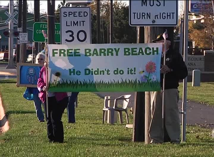 Barry Beach supporters rally in Great Falls (MTN News file photo)