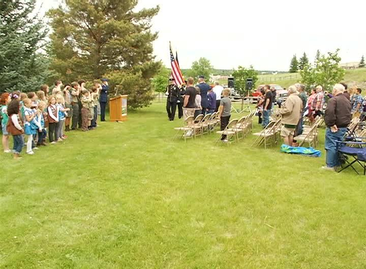 in Great Falls gathered at Overlook Park for the annual Flag Day ...