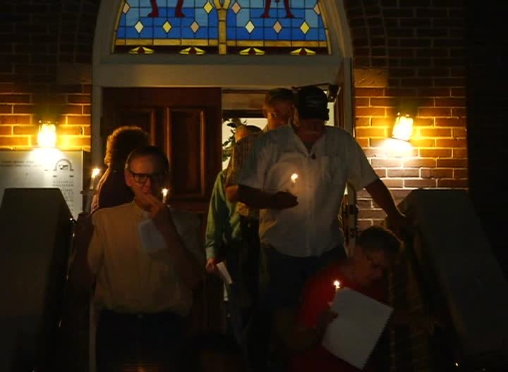 Union Bethel African Methodist Episcopal Church hosted a candlelight service (MTN News photo)