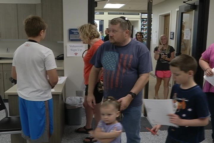 Visitors to the MacLean Animal Adoption Center grand opening (MTN News photo)