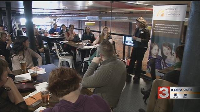 """The """"lunch and learn"""" event was held at the Mighty Mo on Central Avenue."""