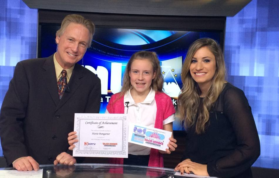 "Hattie Bumgarner showed off her forecasting skills as our ""Weather Rookie"" on Wednesday morning."