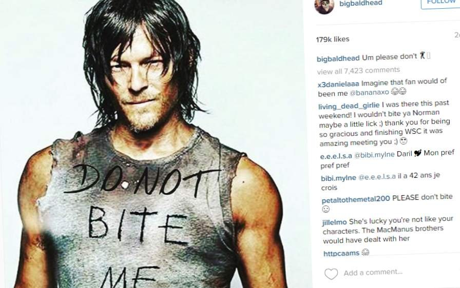 From Norman Reedus' Instagram page