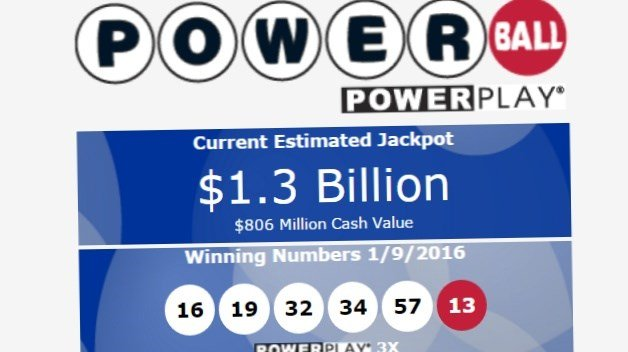 Powerball jackpot hits $1.3 billion
