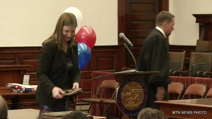 Before the graduation ceremony on Tuesday, the U.S. Department of Justice honored Jennifer Quick for her work as the founding prosecutor of the program.