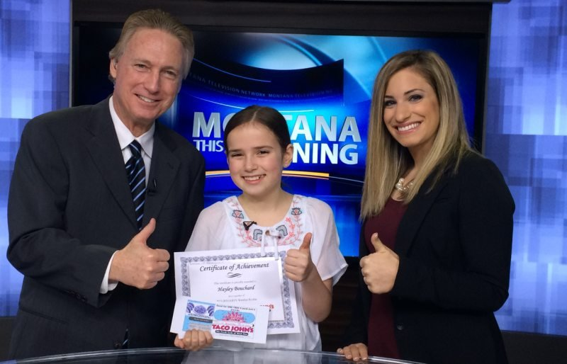 "Hayley Bouchard showed off her forecasting skills as our ""Weather Rookie"" on Wednesday morning."