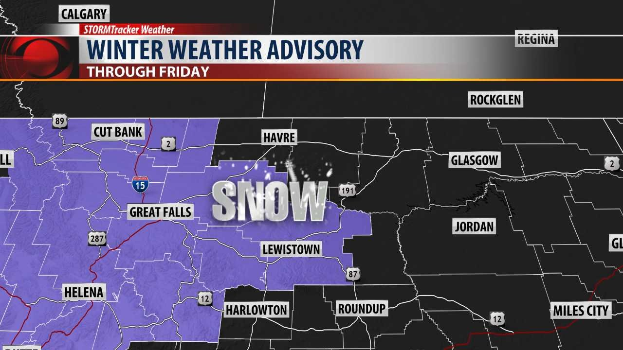 image Winter weather advisory lady snow is cumming in