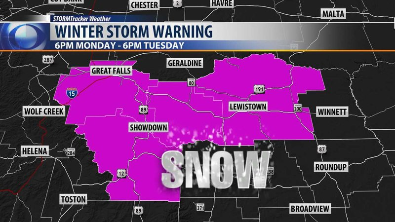 Winter Storm Warning Issued For Central Montana Krtv