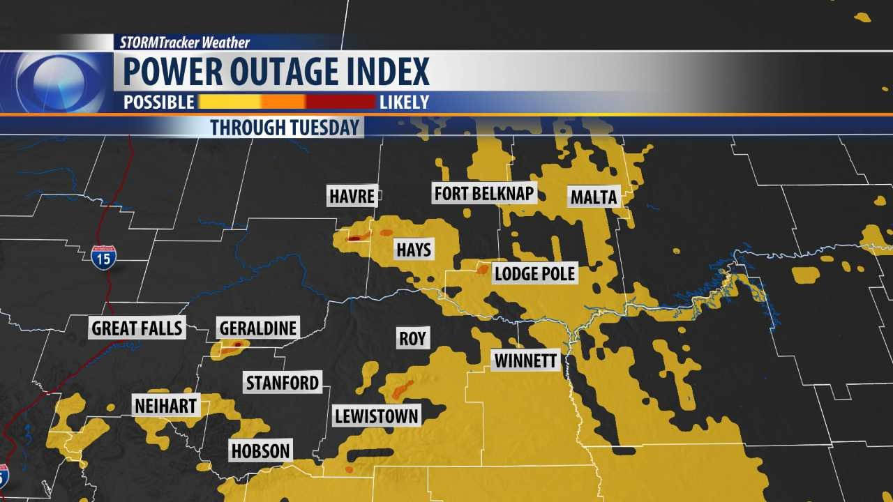 Montana blaine county hays - Power Outage Index From Futuretrack