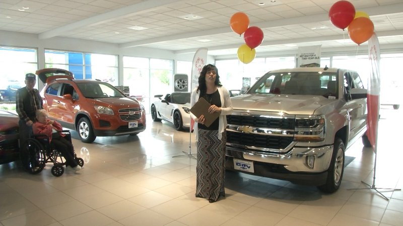 Special olympics truck raffle prize awarded in great falls for City motor company great falls