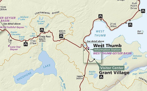 Crash in yellowstone national park likely caused by heart attack it happened just after noon near shoshone point about eight miles west of west thumb sciox Image collections