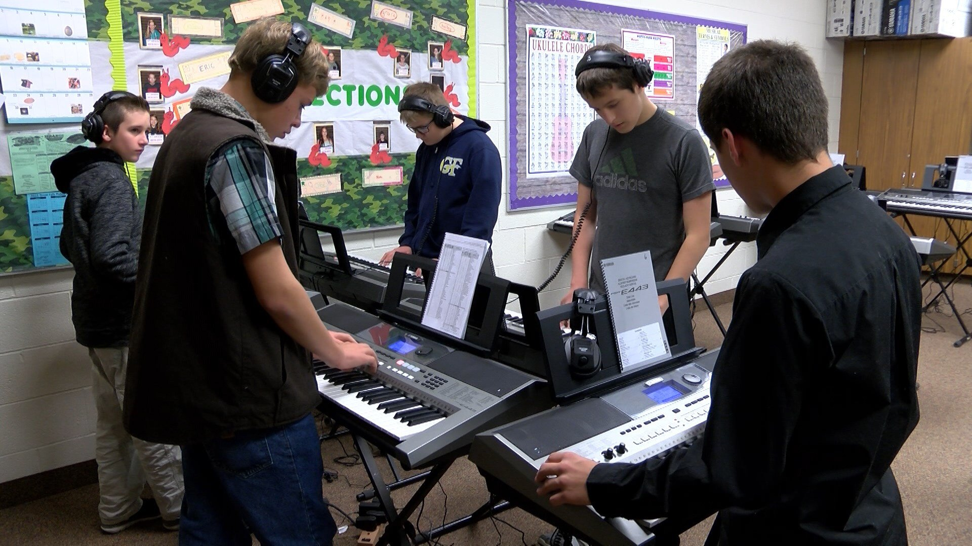 Students say they will be able to explore music composition.. along with the deejay effect.. to create unique mixes that are easily transferred to a computer using a USB drive.
