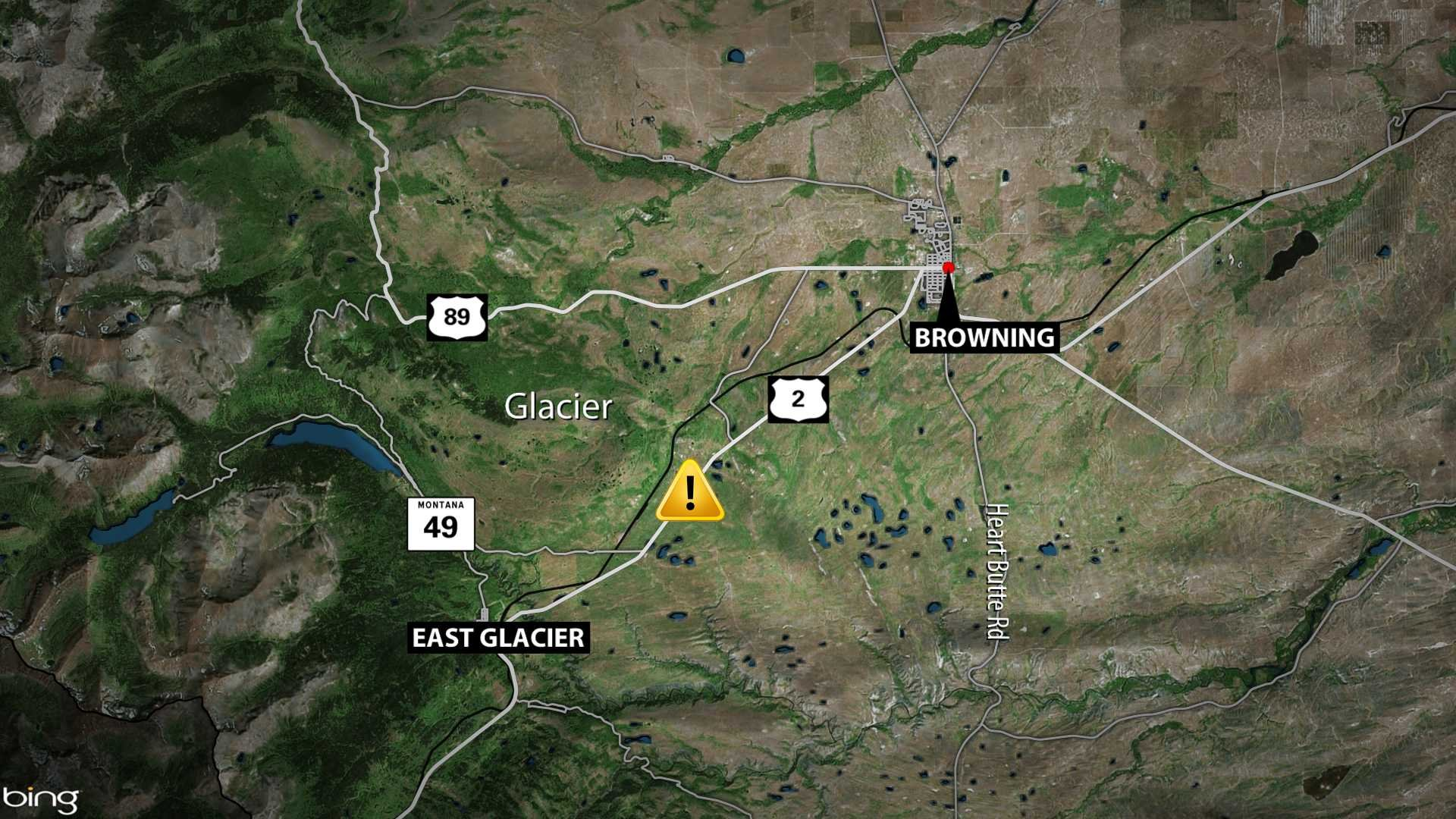 Fatal Crash Reported Overnight In Glacier County  KRTV