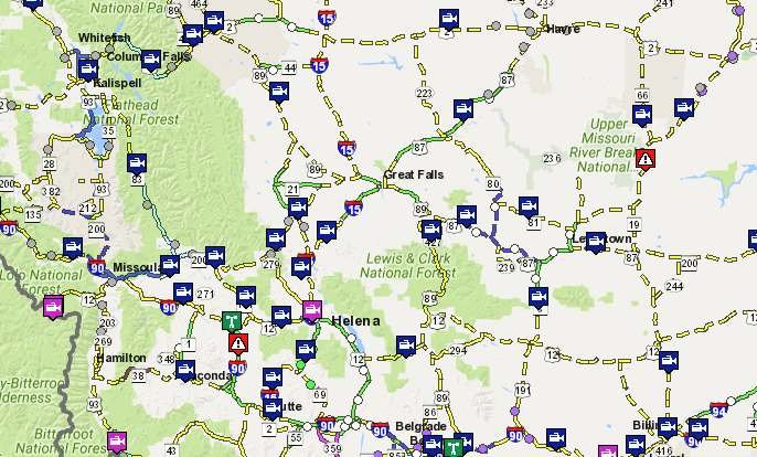 check montana road conditions before heading out krtv news in