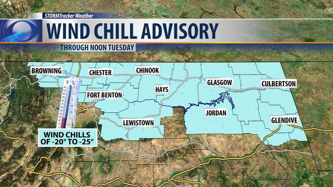 Montana blaine county hays - Wind Chill Advisory In Effect Through Tuesday Morning