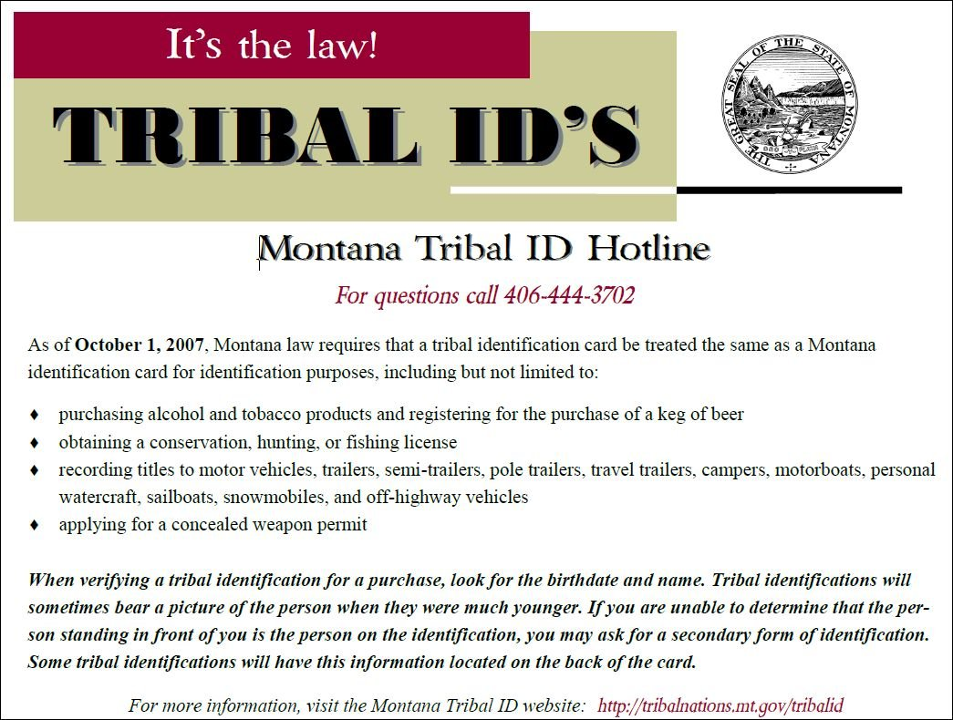 Montana Store Fined 7k For Refusing To Accept Tribal Id Card Q2 Continuous News