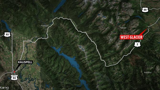Alberta Man Dies In Motorcycle Crash Near Glacier National Park - Us highway 2 map