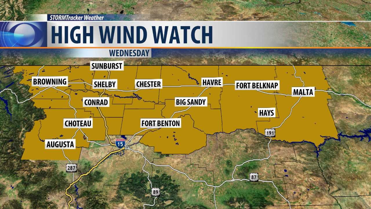 Montana blaine county hays - Dangerously Strong Winds Possible On Wednesday Krtv News In Great Falls Montana
