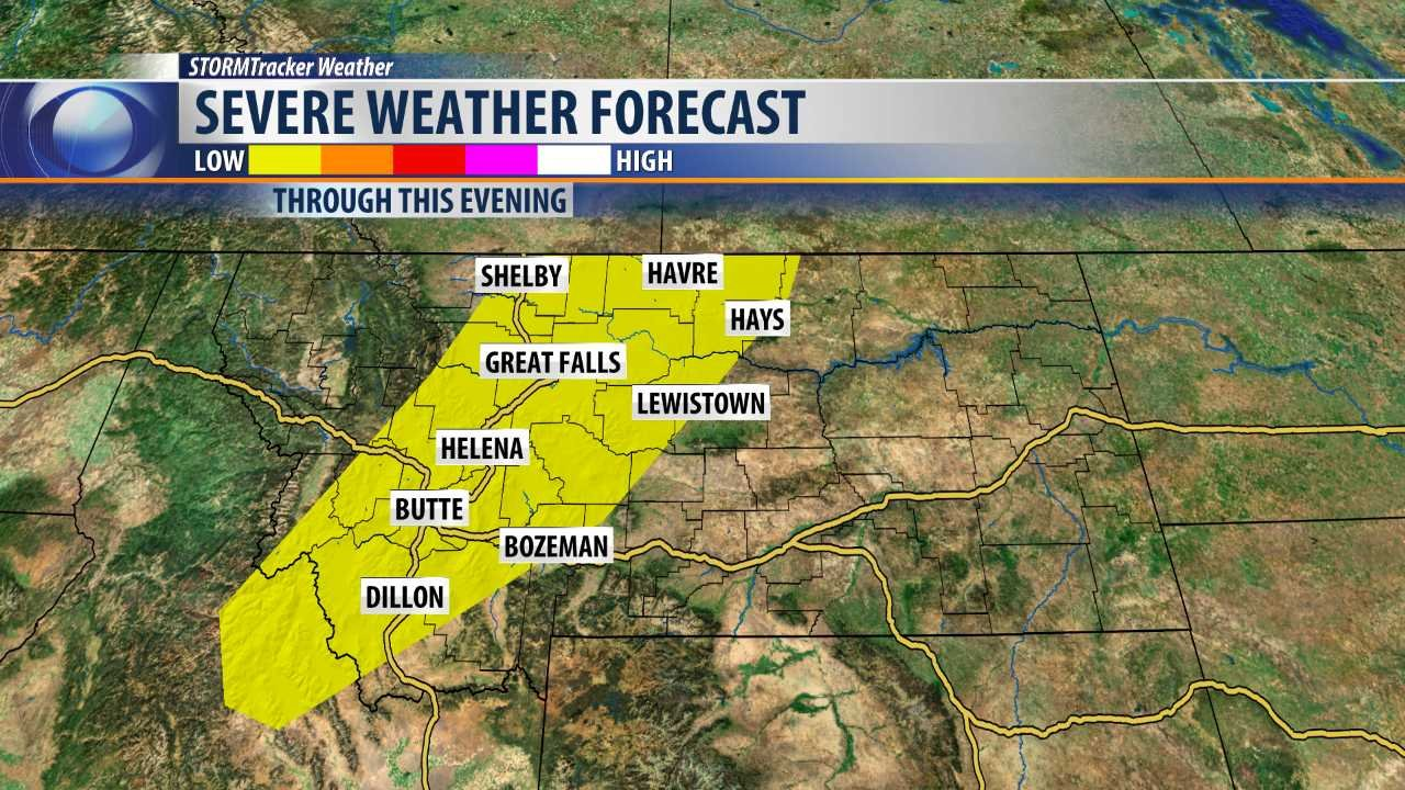 Severe weather possible today q2 continuous for Today s fishing forecast
