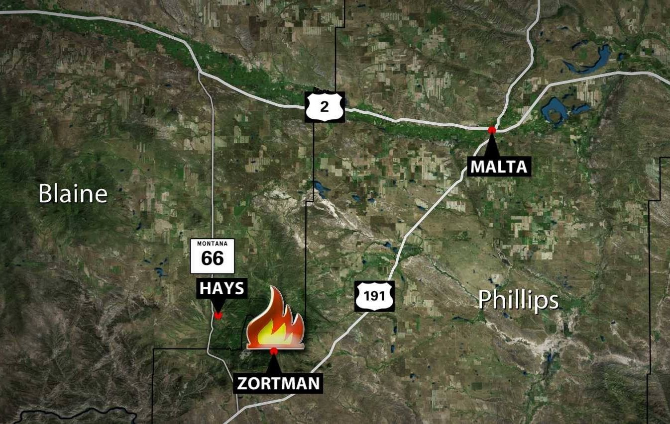 Montana blaine county hays - Wildfire Near Zortman Is Prompting Some Evacuations