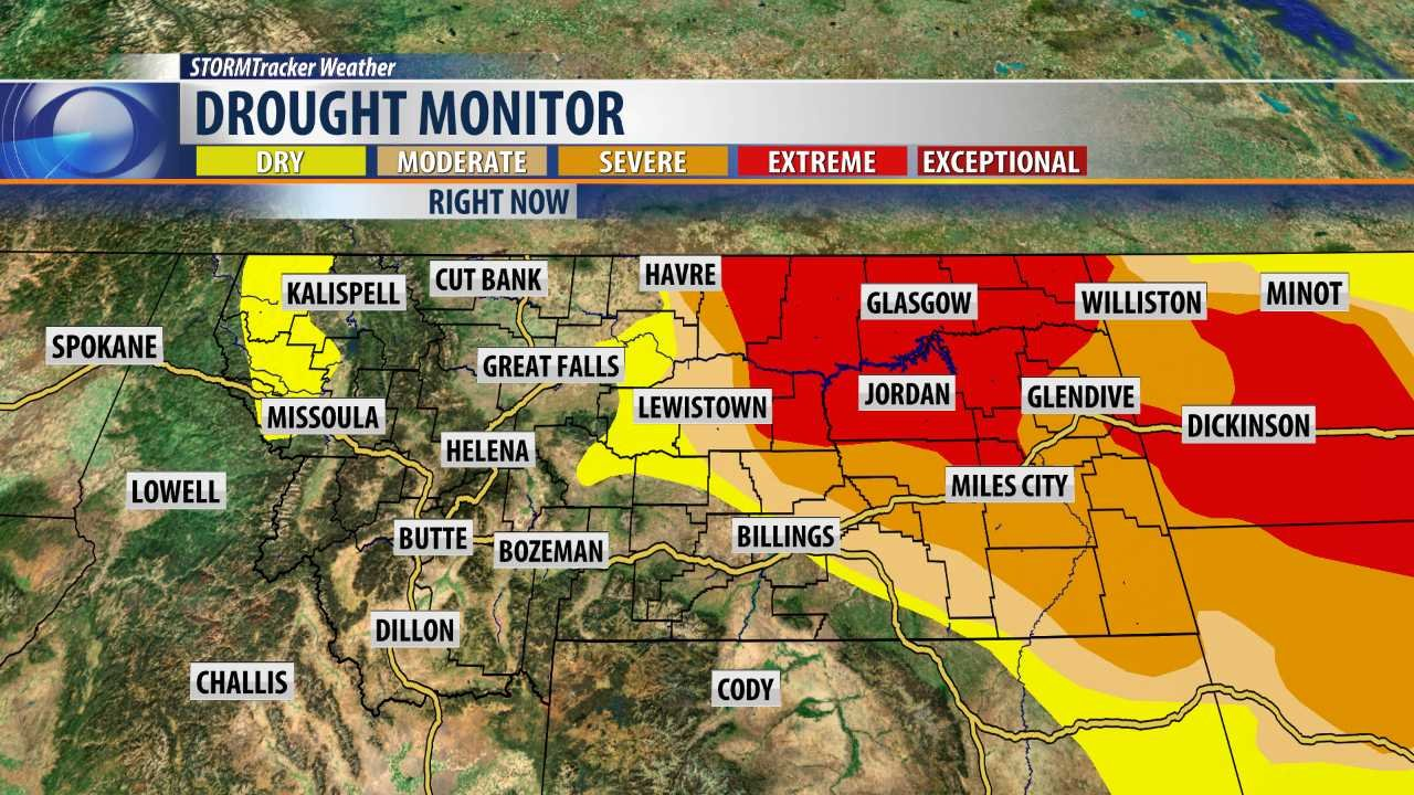 Flash Drought Worsens Across Eastern Montana KBZKcom - Eastern montana map
