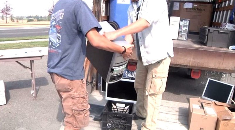 Big sky e recycling program held in helena krtv news in for Northwestern industries