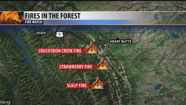 Crucifixion Creek Strawberry And Scalp Fires Continue To Grow