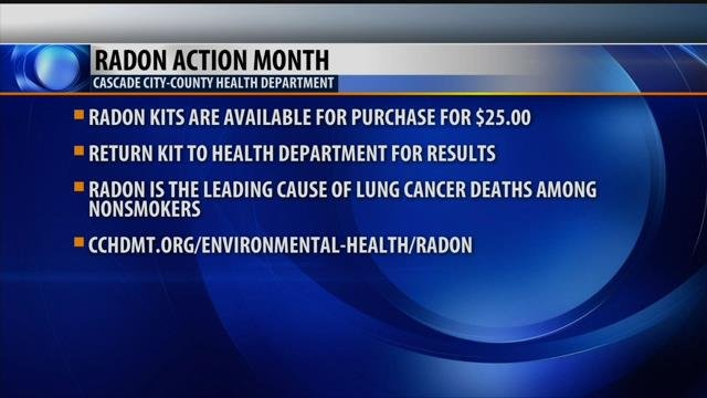 Community connection radon action month krtv news in for How to get rid of radon gas in your home