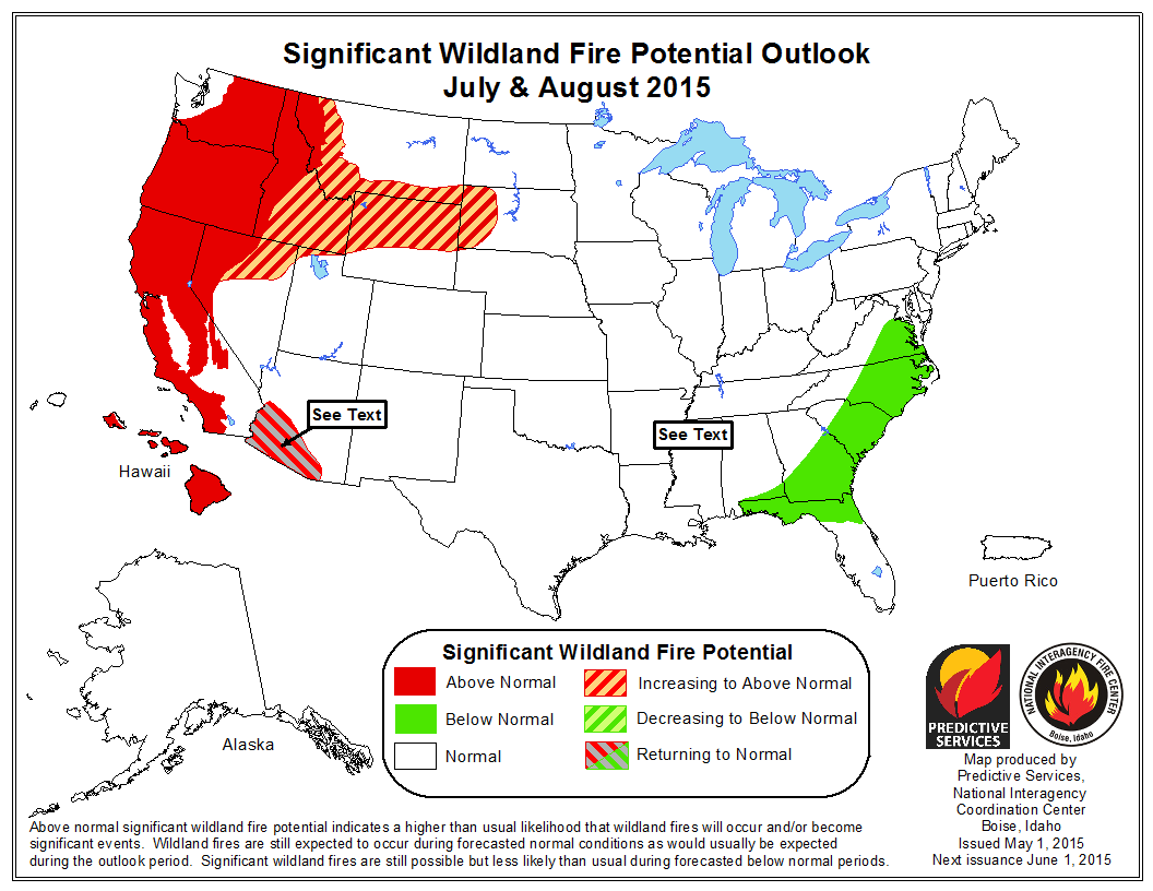 Above Average Fire Season Expected In Montana KPAXcom - Weather forecast map western us